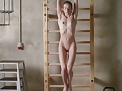Skinny nude girl still too fat
