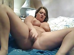 My Obese Teen ex-girlfriend caught coming on cam in room