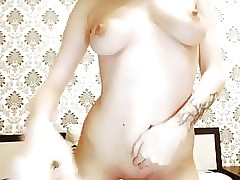 russian cam-slut with milk in tits