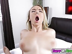Molly Mae is getting that huge boner deep inside her pussy