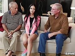 Crystal Rae Pulverizes The Hell Out Of Old Man!