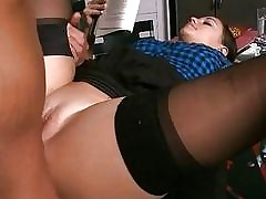 Slut fucked while active reading a book