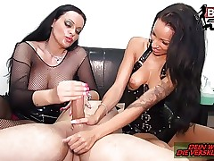 ZWANGSENTSAMUNG und Cock ball torture - DEUTSCHE Domination & submission TEENS MFF