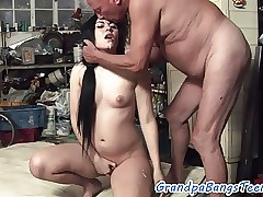 Teen fucked in doggy-style