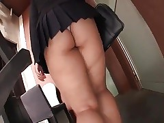 Chinese bbw schoolgirl mini skirt