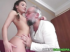 Anita Bellini Loves grandpa Cock