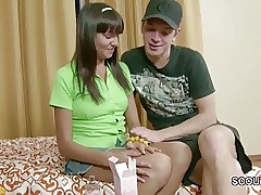 Bro Seduce Petite Step-Sister to Get First Pulverize and Facial cumshot
