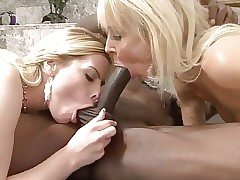 Sharing a Big black cock with step mom!