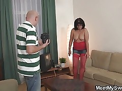 Abnormal old couple seduce son's gf12