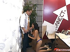 Chief Takes Advantage Of His Teenager Secretary