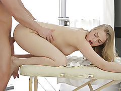 Milana Fox has sex on rubdown table