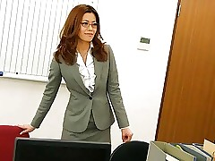 Office worker getting cooch fucked on the table