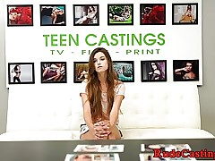 Redhead casting stunner screwed at sexaudition