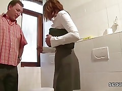 German Redhead MILF Seduce to Plow At Work by Stranger