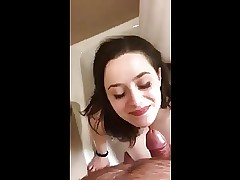 Great Whore gulps pee POV
