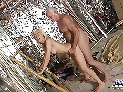 Ultra-kinky Assistent humped by old man in old young porn cumshot