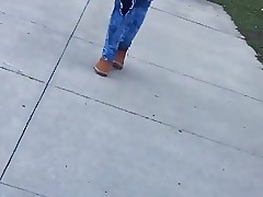 Young Black Teen Walking