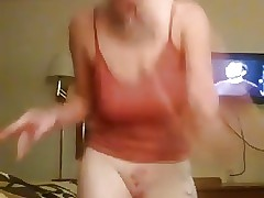 Facebook whore dances naked live