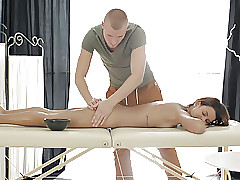 Puny Sophia Young likes massage