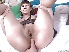 Raunchy Russian Anika Vice has first time anal invasion sex!