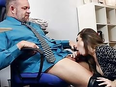 Dad calls Bambi Brooks and feed his man meat