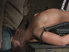 Teen Pent up in a Cage submitted to restrain bondage and Domination & submission punish