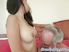 Teen fucked by geriatrics meatpipe from behind
