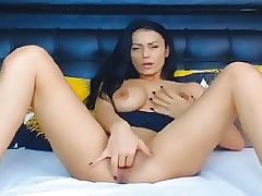 Fabulous Stunner Ravages Her Pussy With Her Toy Dildo