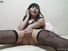 Asian Teen Yurina Ayashiro Telephone Call Onanism