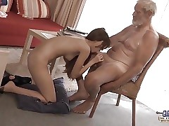 Old Young - Immense Cock Grandpa Boned by Teenager lick fat rod