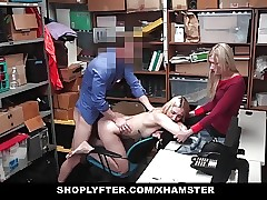 Shoplyfter - Young Daughter Fucks Cop To Save Mom