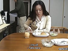 Mother sucking her son's hard cock for his sperm