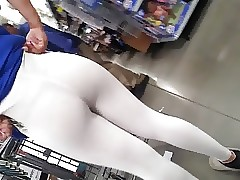 White leggings black g-string Pt2