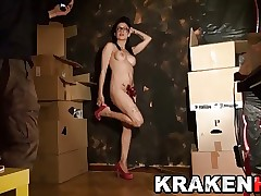 Krakenhot Casting with a super-hot black-haired young girl. Part 1