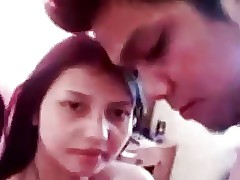 indonesian Girlfriend  recording selfie video for her boyfriend