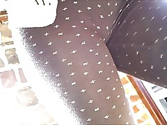 ultra-cute french teen with great ass in see throught leggins