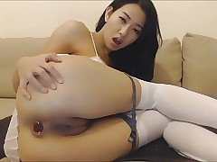 chinese girl anal play