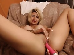 Slutty Blonde Need Some Gusto When She Is Home Alone