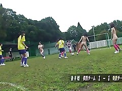 Youthfull soccer whore gets nailed by her coach and a referee