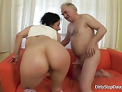 DiryStepdaughter  Sucking and Fucking  dads Sausage