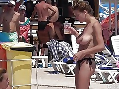 Bare-chested Bikini Big Boobs Teens beach Voyeur HD Video Spycam
