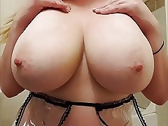 22yr old Michelle toying with 36F mounds