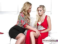 Classy mummy pussylicking glam stepdaughter