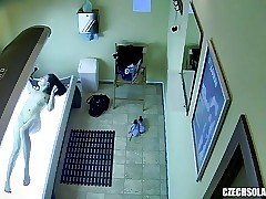 Spy Footage of Teen Girl in Solarium