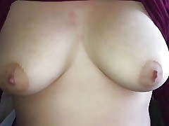 Slow motion immense tits drop from shirt