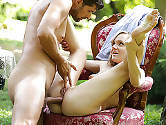 Lucette Nice loves deep anal sex outdoors