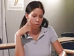 STP7 Horny College girl Seduces And Smashes Her Teacher !
