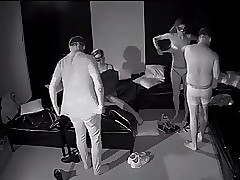 Couples have fuck-a-thon in darkroom