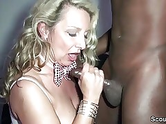 German Step-Mom Fuck Dark-hued Boy on Privat Party