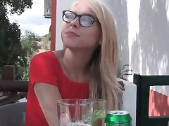 Watch this hot blonde Chloe english tourist